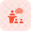 Cloud Presentation Audience Target Icon