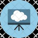 Cloud Easel Presentation Icon