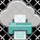 Cloud Printing Facsimile Facsimile Machine Icon