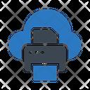 Printer Cloud Database Icon