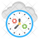 Cloud Processing Management Icon