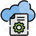 Cloud Data Processing Icon