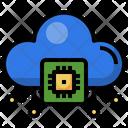 Cloud Processor Cloud Chip Cpu Icon