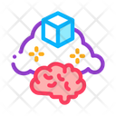 Parcel Brain Cloud Icon