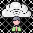 Cloud Profile Signal Icon