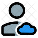Cloud Profile Cloud Account User Cloud Data Icon