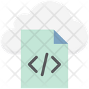 Cloud Programming Cloud Coding Html File Icon