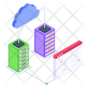 Cloud Servers Cloud Data Servers Data Display Icon