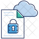 Cloud Computing Cloud Data Security Data Protection Icon