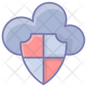 Cloud Protection Lock Data Icon