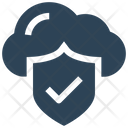 Cloud Protection Security Icon