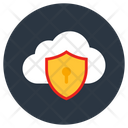 Cloud Protection Cloud Safety Cloud Shield Icon