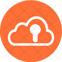 Cloud Protection Cloud Security Encrypted Cloud Icon