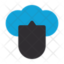 Cloud Protection Shield Connection Icon