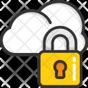 Cloud Protection Computing Icon