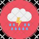 Cloud Thunder Rain Icon