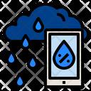 Smartphone Cloud Rain Icon