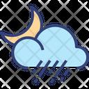 Cloud Rain Moon Icon