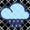 Cloud Raindrops Icon