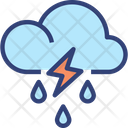 Cloud Raining Thunder Icon