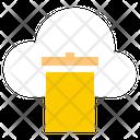 Cloud Recycle Bin Cloud Computing Network Hosting Icon