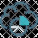 Data Graph Round Icon