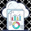 Cloud Analysis Cloud Reporting Digital Storage Icon