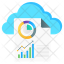 Cloud Reporting Cloud Chart Cloud Infographic Icon