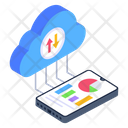 Cloud Computing Cloud Analytics Cloud Reporting Icon