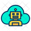 Artificial Intelligence Cloud Humanoid Icon