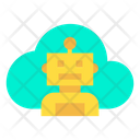 Cloud Robot Icon
