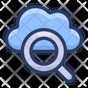 Cloud Search Cloud Exploration Cloud Computing Icon
