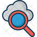 Cloud Search Magnifier Cloud Computing Icon