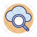 Cloud Search Cloud Computing Magnifier Icon