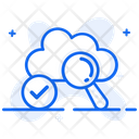 Cloud Search Cloud Analysis Find Cloud Icon