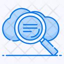 Cloud Search Cloud Exploration Cloud Analysis Icon