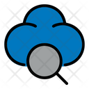 Search Magnifier Cloud Icon