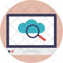 Cloud Search Magnifier Icon