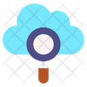 Cloud Search Cloud Exploration Cloud Magnifying Icon