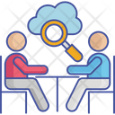 Cloud Search Business Meeting Meeting Icon