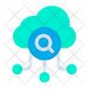 Cloud Search From Cloud Online Data Icon