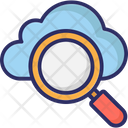 Cloud Search Internet Exploring Cloud Magnifying Icon
