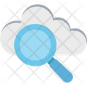Cloud Searching Cloud With Magnifier Cloud Computing Search Icon