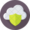 Cloud Security Computing Icon