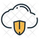 Cloud Protection Shield Icon