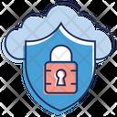 Cloud Computing Cloud Data Protection Cloud Services Icon