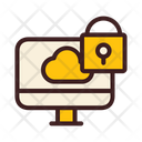 Cloud Security Computer Security Lcok Computer Icon