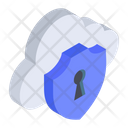 Cloud Security Cloud Protection Private Cloud Icon