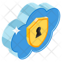 Cloud Security Cloud Protection Cloud Safety Icon