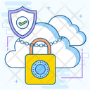 Cloud Lock Protected Cloud Network Data Cloud Lock Icon